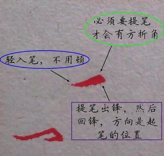 横折勾写法